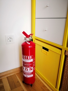 House wood indoors fire extinguisher